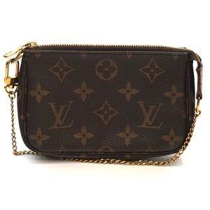Louis Vuitton Monogram Pochette Chain Mini Bag
